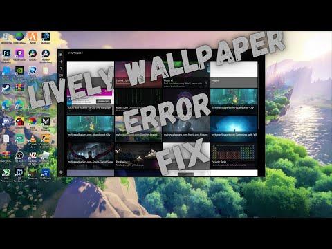 Lively wallpaper error fix *NEW*2020*working 100%