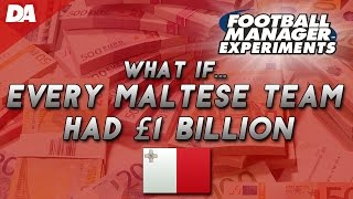 Every maltese football team with £1 billion! #1 - football manager 2016 experiment