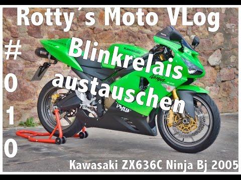 Kawasaki Ninja ZX636C Tutorial #010 tausch Blinkrelais Blinkgeber