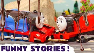Thomas & Friends Funny Pranks When Accidents Happen With Chocolate And Mud Tt4u