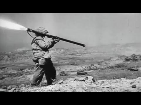 Battle of Iwo Jima US Marines In Heavy Combat WW2 Footage with Sound