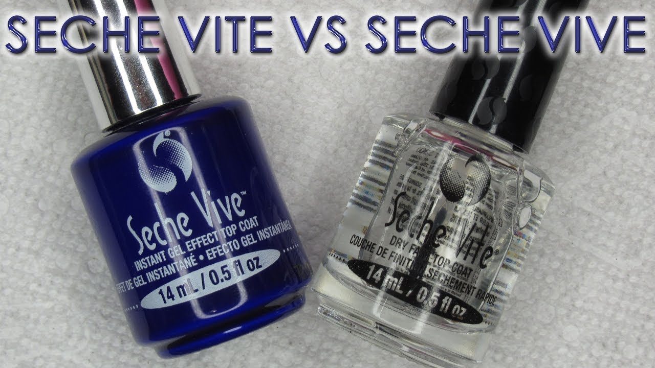 seche vite vs seche vive topcoat comparison youtube