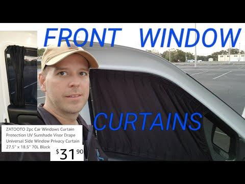 DIY Front Door Window Curtains on our Ram Promaster City self built camper van. RTR Update