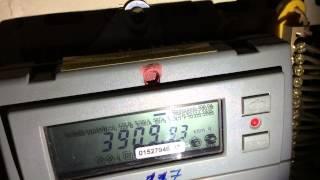 видео Как снять показания счетчика электроэнергии меркурий 200