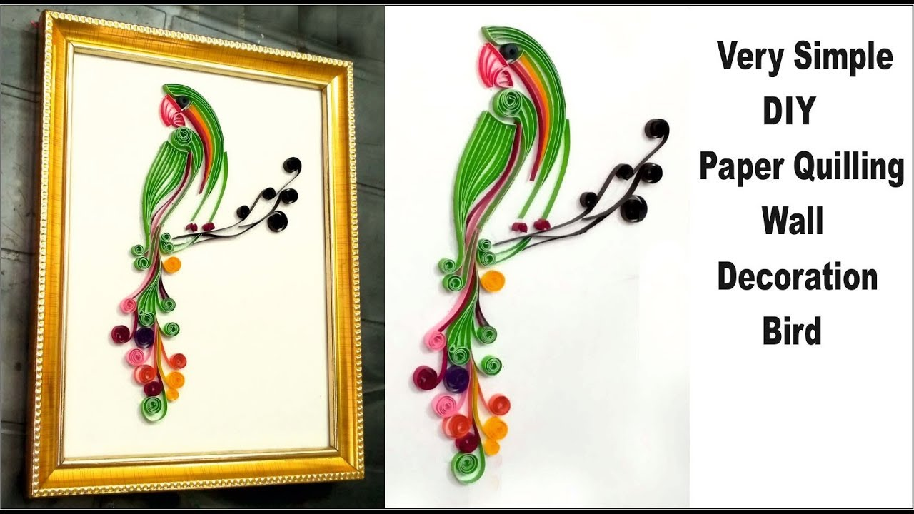 Paper quilling bird designs for decoration | paper quilling bird ...