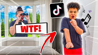 I CAUGHT My Little Brother Doing CRINGEY TIK TOKS!! *KAYLEN'S SECRET EXPOSED!*