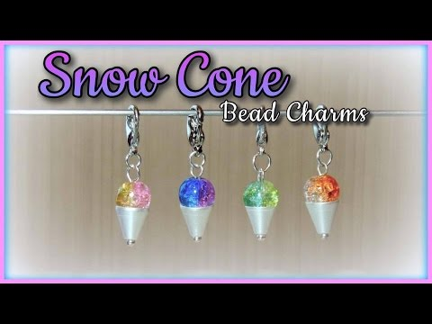 Snow Cone Bead Charms