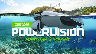 PowerVision at CES 2019 - Marine Drone PowerDolphin and PowerRay