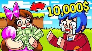 Майнкрафт: ПОБЕДИТЕЛЬ ПОЛУЧАЕТ 10000$ ! Парень и Девушка Мини Игра Смешное Видео Нуб и Про Minecraft