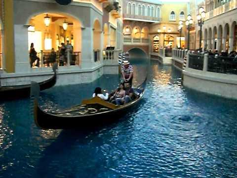 Las Vegas Venetian Hotel indoor Gondola boat