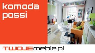 Recenzja: Komoda Possi, Black Red White - TwojeMeble.pl
