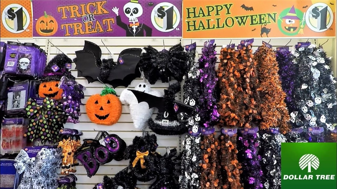 HALLOWEEN AT DOLLAR TREE - HALLOWEEN SHOPPING DECORATIONS COSTUMES HOME  DECOR DOLLAR STORE