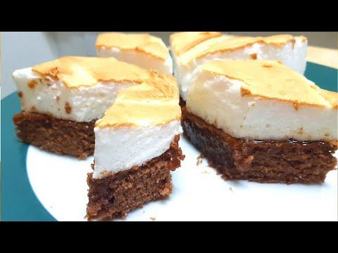 Bizcocho de Chocolate con Merengue - Fácil y Delicioso