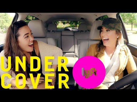 Undercover Lyft with Demi Lovato