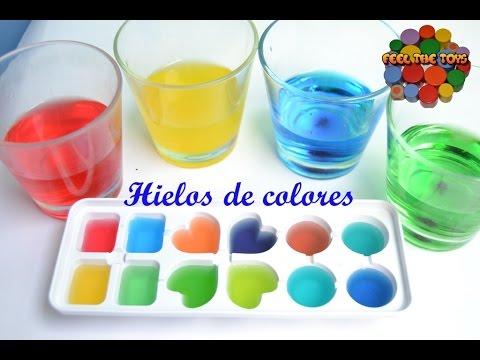 HIELOS ARCOIRIS. Experimento con colores. Aprende a mezclar colores ...