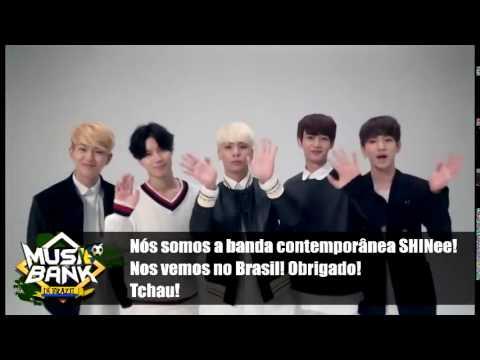 MUSIC BANK BRASIL SHINee manda recado para fãs brasileiros