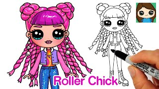 How to Draw a Fashion Girl | LOL Surprise Roller Chick Fashion Doll