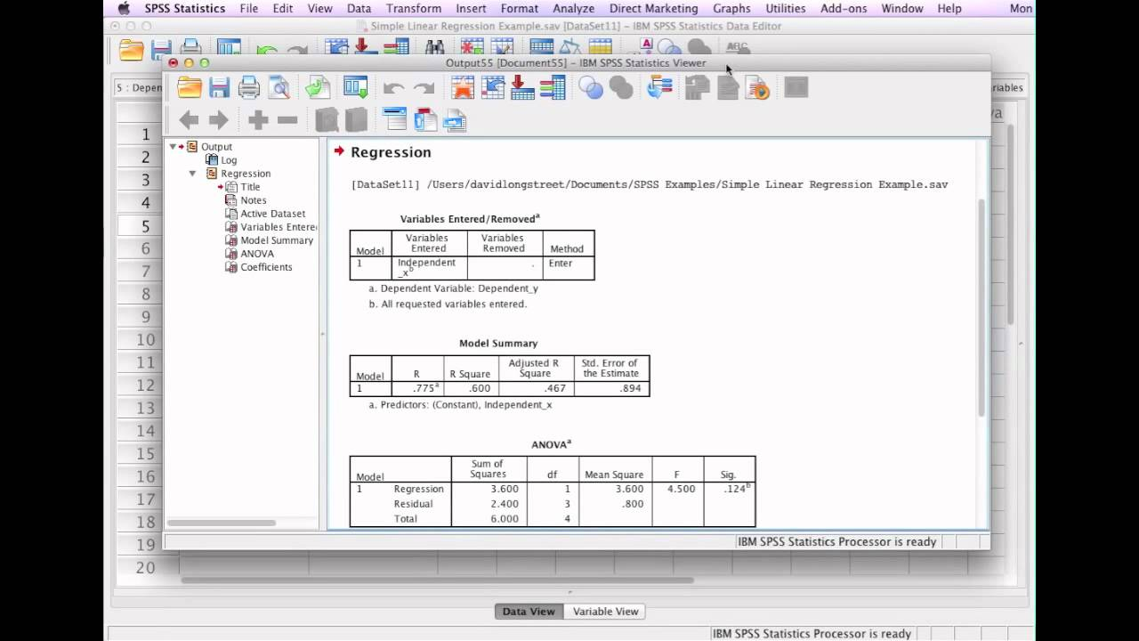How to Calculate Linear Regression SPSS