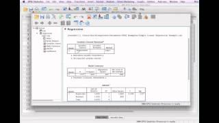 كيفية حساب الانحدار الخطي SPSS