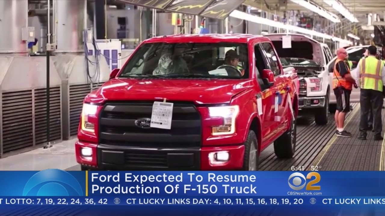 Ford to resume F-150 production