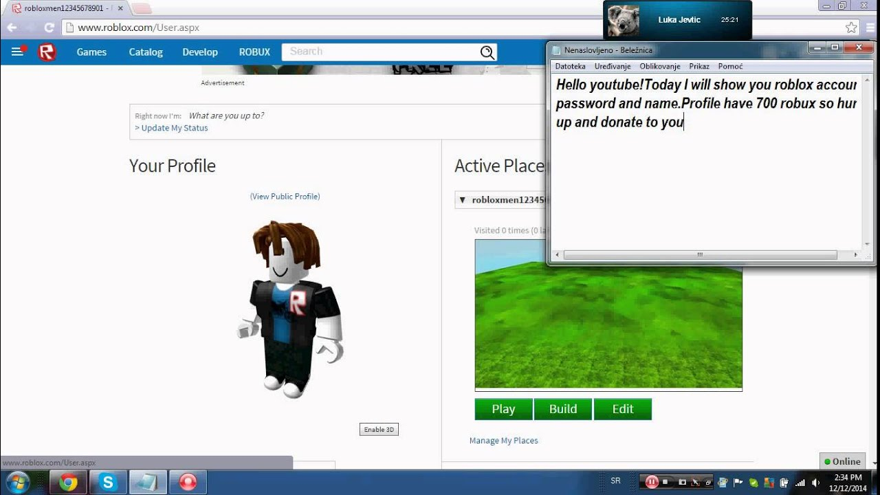 Roblox Names: Roblox Account Password And Name