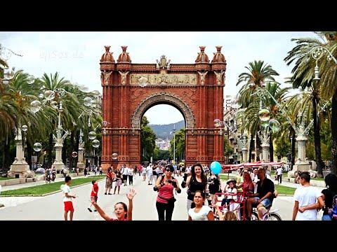 Streets of Barcelona City