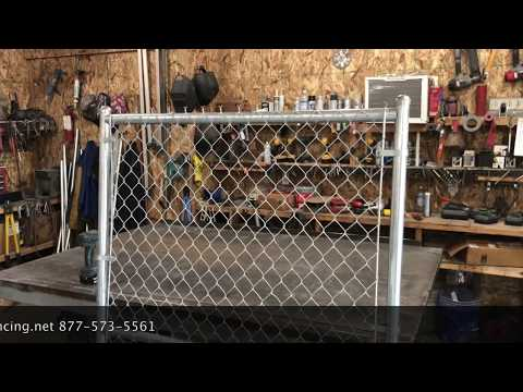 HOW TO INSTALL CHAIN LINK FENCE GATE 6x4 COMMERCIAL
