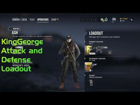Pro KingGeorge Operator Loadouts Attack and Defense Operators
