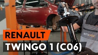 How to replace Shock absorbers RENAULT TWINGO I (C06_) Tutorial