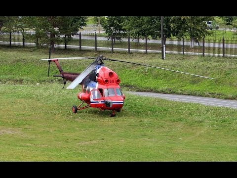 Вертолет Ми-2 - запуск-взлет КУШВА