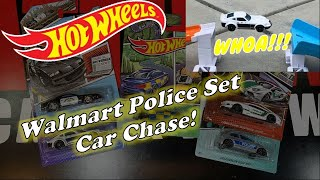 Hot Wheels Walmart  Exclusive Police Set Car Chase