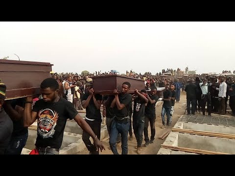 Mass burial of 73 people killed by Fulani Herdsmen in Benue