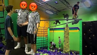 CRAZY TRAMPOLINE PARK DARES! (THEY WERE PISSED) | FaZe Rug