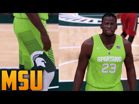 1de110c82bc NBA 2K16 Michigan State Spartans Mean Green Jersey Tutorial
