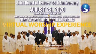 August 23, 2020: Joint Board of Ushers' 65th Anniversary Virtual Worship Experience