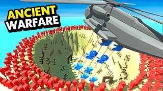 DROPPING UNITS IN THE PIT OF ANCIENT WARFARE 3 (Ancient Warfare 3 Funny Gameplay)