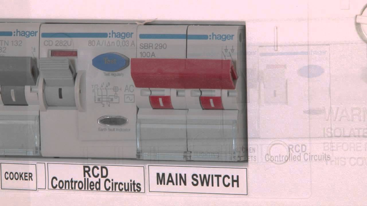 video about your hager mains circuit breaker turning electricity on or off youtube [ 1280 x 720 Pixel ]