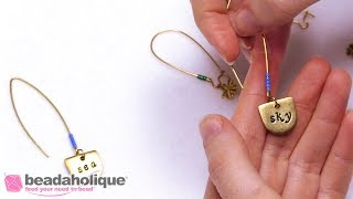 How to Add Color to Earring Wires with Seed Beads