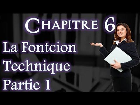 L'entreprise et Son Environnement Chapitre 6 : Fonction Technique Partie 1 (Darija)