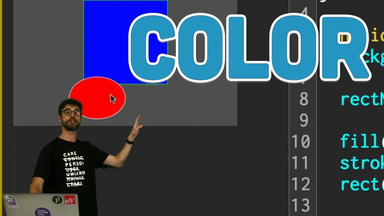 1.4: Color - p5.js Tutorial
