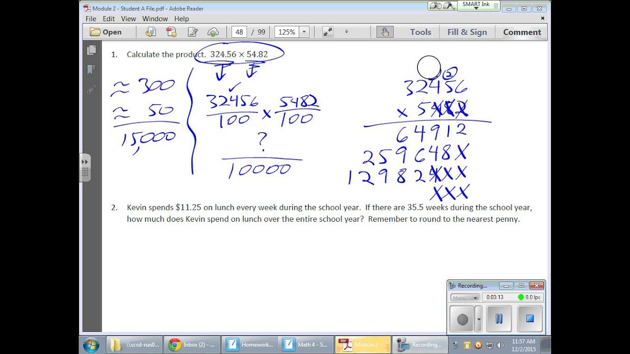 Common Core Math 6th Grade Module 2