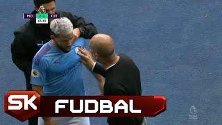Aguero i Gvardiola se Svađali, pa se Pomirili na Kraju Meča   SPORT KLUB FUDBAL