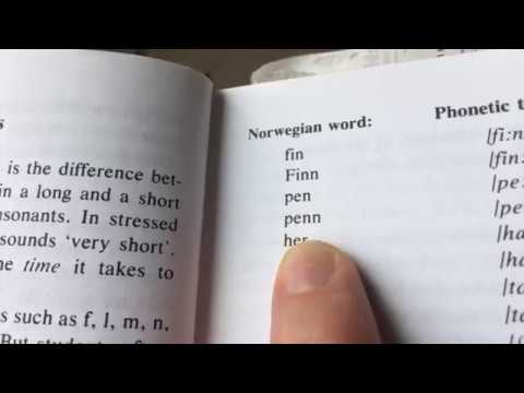 Online course: beginner Norwegian lesson 3: Pronunciation of short and long vowel sounds