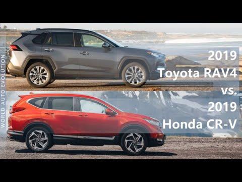 2019 Toyota RAV4 vs 2019 Honda CR-V (technical comparison)