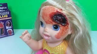 BABY ALIVE EM MAQUIAGEM DO TERROR (FERIDA ABERTA) - Show Fun Toys