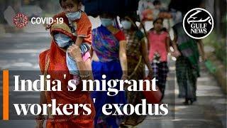 India's migrant workers' exodus