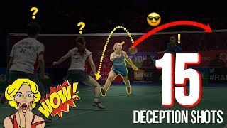Flabbergastic Badminton Deceptions Shots 2018  Surprsing Deception Shots  God Of Sports