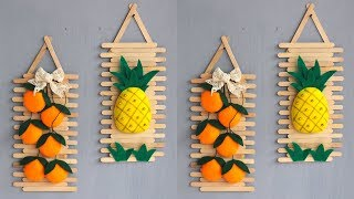 Popsicle stick crafts ideas | ice cream sticks crafts | Hiasan dinding dari stik es krim dan flanel