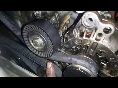 VW Jetta 6 And Polo 1.6 L Replacement Alternator Belt Замена ремня гениратора