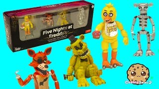 Five Nights A Freddy's Set One Funko Vinyl Chica, Cupcake, Foxy, Golden Freddy Game Box Set